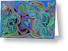 love in every shade of U v9     love in every shade of blue  Greeting Card by Kenneth James