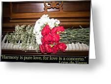 Love In Harmony Greeting Card