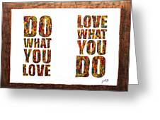 Love In Life Acrylic Palette Knife Painting Greeting Card