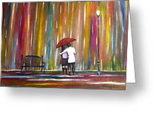 Love In The Rain Greeting Card