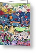 Love Is Abundant Greeting Card by Jen Norton