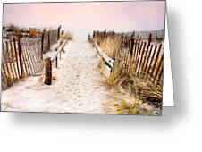 Love Is Everything - Footprints In The Sand Greeting Card