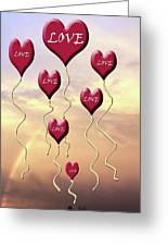 Love Is In The Air Sunshine Rainbow Greeting Card by Cathy  Beharriell