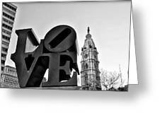 Love Is Just Black And White Greeting Card