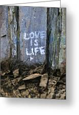 Love Is Life Greeting Card