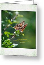 Love Is Like A Butterfly Greeting Card