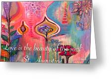 Love Is The Beauty Greeting Card by Robin Mead