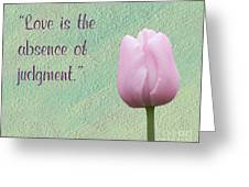 Love Is Tulip Greeting Card