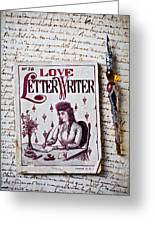 Love Letter Writer Book Greeting Card by Garry Gay