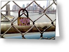 Love Lock Greeting Card