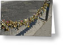 Love Locks - Florence Italy Greeting Card