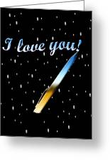 Love Message Digital Painting Greeting Card