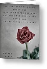 Love Mother Teresa Greeting Card