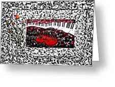 Love Music Memories Original Acrylic Painting  Greeting Card