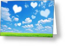 Love Nature Background Greeting Card