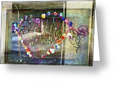 Love Note Under The Bridge Greeting Card