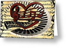 Love Of Music  Greeting Card