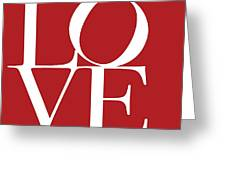 Love On Red Greeting Card