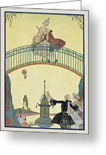 Love On The Bridge Greeting Card