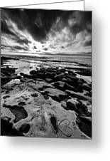 Love On The Rocks Bw Greeting Card