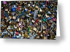 Love Padlocks On Pont Des Art Greeting Card
