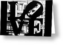 Love Philadelphia Black And White  Greeting Card