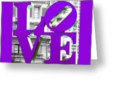 Love Philadelphia Purple Greeting Card