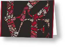 Love Quatro Heart - S111b Greeting Card