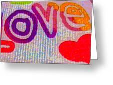 Love Greeting Card by Rebecca Flaig