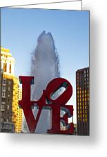 Love Statue In Philadelphia Pa Greeting Card