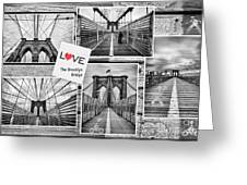 Love The Brooklyn Bridge Greeting Card