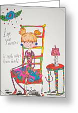 Love Your Enemies Greeting Card by Mary Kay De Jesus