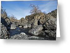 Lovejoy Basalt Formations  Greeting Card
