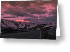 Loveland Pass Sunset Greeting Card by Michael J Bauer