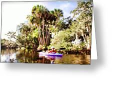 Lovely Kayaker Greeting Card