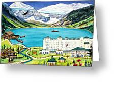 Lovely Lake Louise Greeting Card