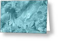 Lovely Mayhem - Ice Blu Greeting Card