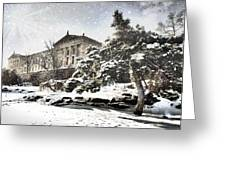Lovely Snow On The Museum Greeting Card