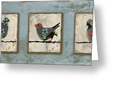 Lovely Song Bird Trio -1 Greeting Card