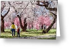 Lovely Spring Day For A Walk Greeting Card
