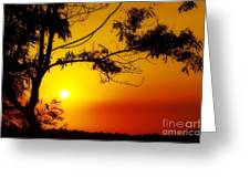 Lovely Sunset Greeting Card by George Paris