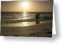 Lovers At Sunset Greeting Card