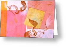 Lovers Dance 2 In Sienna And Pink  Greeting Card