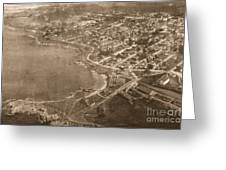 Aerial Of Lovers Point And Pacific Grove California July 10 1906 Greeting Card