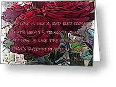 Lover's Roses Greeting Card