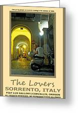 Lovers Sorrento Italy Greeting Card
