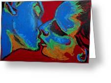Lovers - Tender Kiss Greeting Card