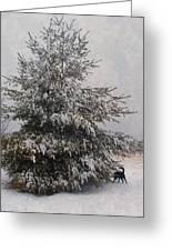 Loves Snow Greeting Card
