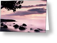 Lovina Sunset - Bali Greeting Card
