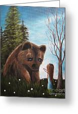 Loving All God's Creatures By Shawna Erback Greeting Card by Shawna Erback